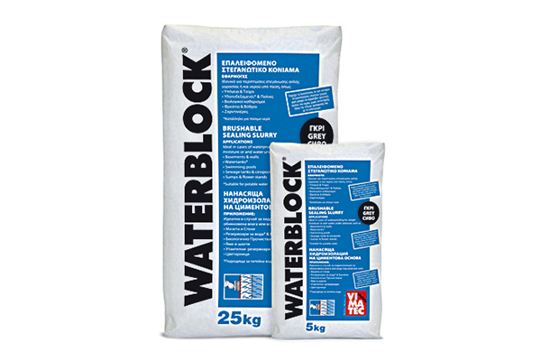 waterproofing material-for basements & tanks-brushable waterproofing slurry-inorganic cement based-for high hydrostatic positive and negative pressure-for drinking water tanks-very high bonding to concrete