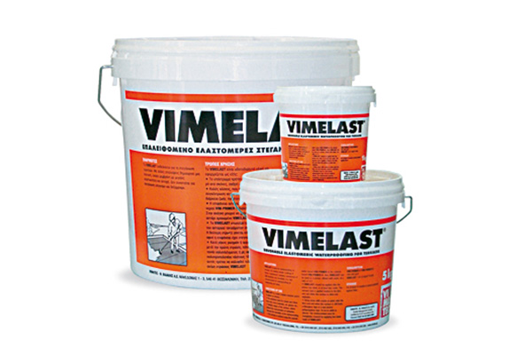 waterproofing materials-elastomeric coatings-for roofs-brushable-great bonding-high strength membrane-high elasticity for cracks and movement of substrates-white-grey-red-Vimelast