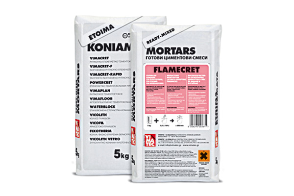 cement mortar- high temperature fire resistance- high strength and adhasion- waterproofing- for laying firebricks- flamecret