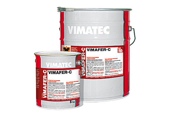cement repairing mortar- anticorrosive protection for steel reinforcement- with resin- vimafer c