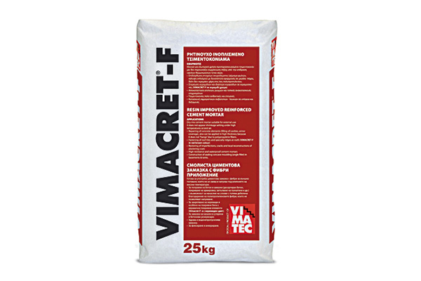 cement repairing mortar-fiber reinforced- with resin- dry-mix- vimacret f
